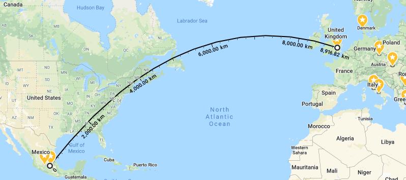 8800km